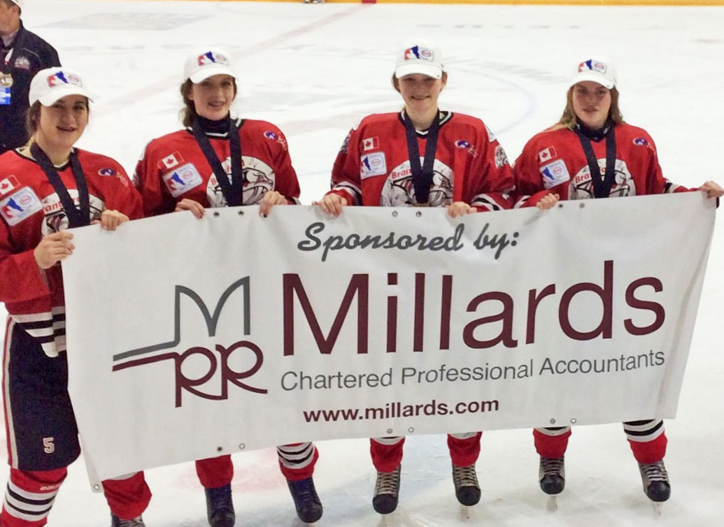Brantford_IceCats Esso Cup Midget AA Canadian female hockey champions