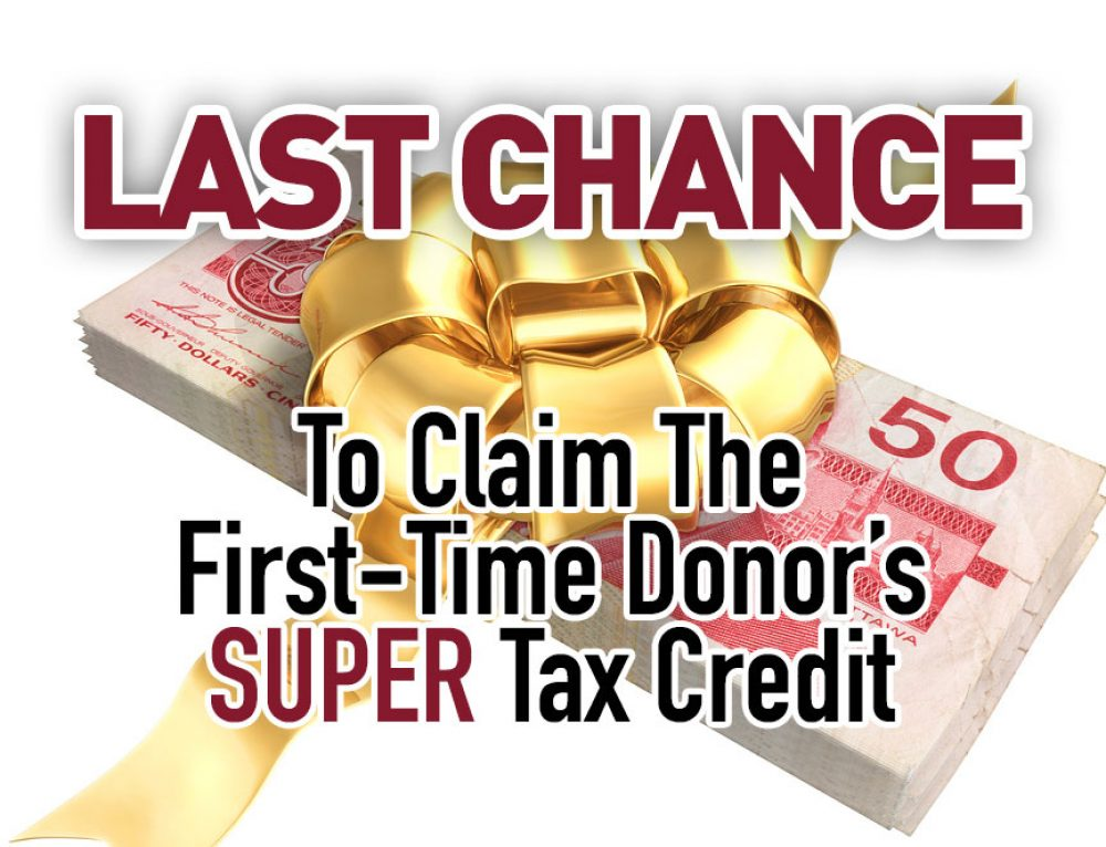Last Chance To Claim The First-Time Donor's Super Credit
