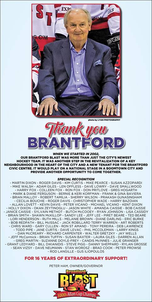 Thank you Brantford!