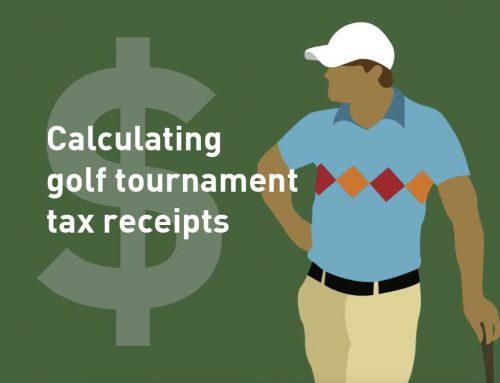 Calculating Golf Tournament Tax Receipts