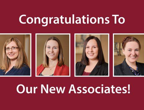 Congratulations To Our New Associates!