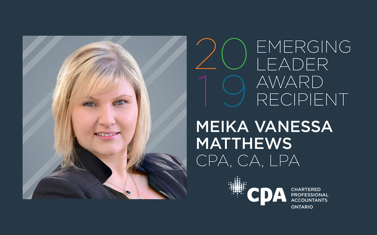 CPA Ontario Emerging Leader Award